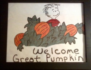 I drew this a long time ago. It's one of many Halloween decorations